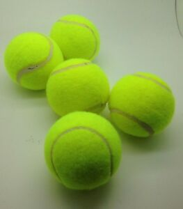 5 Yellow 75mm Downgrade Tennis Balls