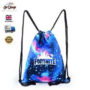 Boys Girls Fortnite Drawstring Bag- GREAT QUALITY - UK STOCKIST/SELLER