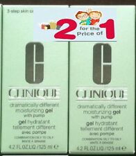 2  Clinique Dramatically Different Moisturizing Gel with pump 4.2oz/125ml NIB