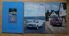 MERCEDES BENZ 200D 240D 300D 1976-77 UK Mkt Prestige Brochure + Specs - W123