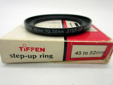 New Tiffen 48 to 58mm Step-Up Black Ring 48-58mm Rings 48mm to 58mm 4858SUR