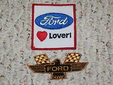 Set of Vintage Ford Thunderbird Wings Flag Patches