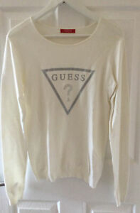 Guess Ivory/white Jumper ~ Size L (UK 10-12)
