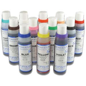 Kroma Kolors Airbrush Colors 4 oz. Set - 11 Colors plus 1 Airbrush Cleaner