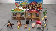 playmobil set transportable western shériff et banque ref 4398