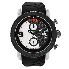 Mulco Unisex Black Silicone Band Steel Case Swiss Quartz Watch MW5-2496-025