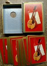 Vintage set mandolin musical instrument playing cards Free Fast Ship 🃏🃏🃏