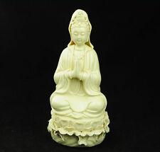 Chinese dehua white porcelain statue of goddess. Guanyin bodhisattva  d01