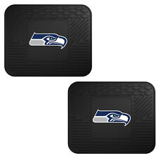 NFL Seattle Seahawks Car Truck 2 Back Utility All Weather Rubber Floor Mats