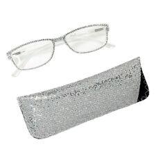 KIRKS FOLLY Swarovski Silver Crystal Reading Glasses   strength +1.50