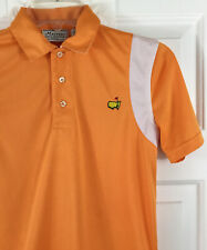 Masters Collection Boy's Orange Golf Polo Shirt Short Sleeve Youth Size M (8-10)