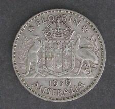 1939 Australia Silver Shilling - VF -- KM #40
