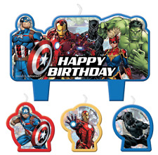 Marvel Avengers Candle Set Boys Birthday Party Decoration Supplies Cake Toppers