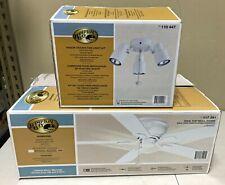 "Hampton Bay Hawkins White Indoor 44"" Ceiling Fan & Light Kit - NIB - Reversible"