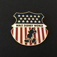 WDW - Mickey Mouse Flag Shield Disney Pin 7860