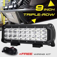 9INCH 270W CREE LED LIGHT BAR SPOT FLOOD COMBO BEAM TRI ROW ATV SUV WORK PK 168W