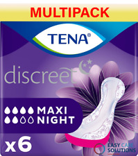 TENA Lady Maxi Night 6 Packs of 6 Disposable Pads For Bladder Weakness(36 Total)