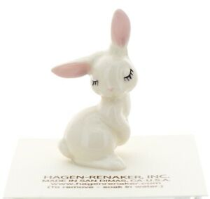 Hagen-Renaker Miniature Rabbit White Bunny Mama Ceramic Figurine