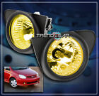 FOR 03-05 TOYOTA ECHO FRONT BUMPER DRIVING FOG LIGHTS LAMP YELLOW W/BEZEL+SWITCH