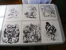Set of 6 B&W PHANTASMAGORIA Prints Kenneth Smith Art Portfolio #1