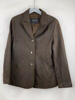 WILSONS LEATHER JACKET PELLE STUDIO MENS SIZE LARGE DISTRESSED COAT