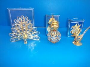 CRYSTAL TEMPTATIONS IN ORIGINAL BOXES -  PEACOCK, SNOWMAN AND SWAN
