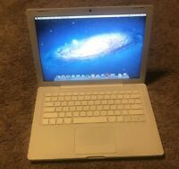 "Apple A1181 MacBook 13.3"" Laptop with Intel Core 2 Duo 2.0GHz 2GB RAM 120GB HDD"