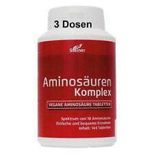 3 Dosen Aminosäuren Komplex 432 Tabs Aminosäure 8EAA Aminos Diät Hilfe Protein