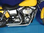 """Chrome 2 1/4"""" Street Sweepers Exhaust Drag Pipes Harley Dyna FXD Bobber Chopper"""