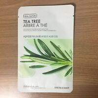 1SHEET THE FACE SHOP REAL NATURE TEA TREE SOOTHING FACE MASK PACK