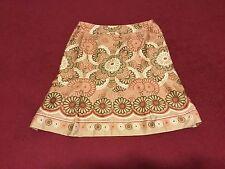 NWOT Ann Taylor LOFT Sz 8 Petite Earth Tone Floral Print Lined Pleated Skirt