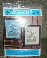 DAISIES & BLACK EYED SUSANS No. 442B Creative Stitchery Picture Kit NOS Sealed