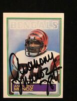 ANTHONY MUNOZ 1983 TOPPS AUTOGRAPHED SIGNED AUTO FOOTBALL CARD 240 HOF BENGALS