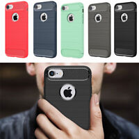 ShockProof Hybird Silicone Brushed Case Cover For iPhone X 6s 6 7 8 Plus 5s 5 SE