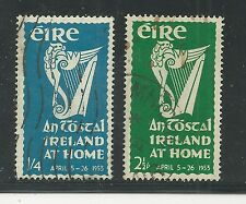 """IRELAND # 147-148 Used NATIONAL FESTIVAL """"AN TOSTAL"""""""