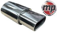 Acier Inoxydable Sports Muffler Boîte ovale plat et bout carré pointe d'échappement #swuxe 15