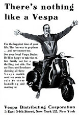 Theres nothing like a Vespa Scooter Ad NY Poster Print