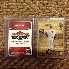 MICKEY MANTLE  Yankees No Number /1500 made Error  2014 national Beckett Covers