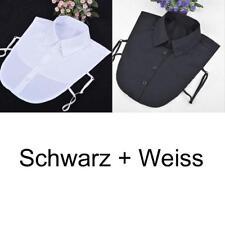 Weiß Schwarz Blusenkragen Krageneinsatz Bluseneinsatz Abnehmbare Falsche Kragen