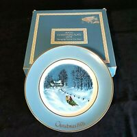Vintage Avon Bringing Home the Tree Christmas 1976 Wedgewood Preowned in Box