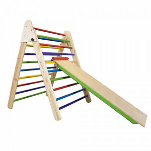 Wooden Foldable Pikler Triangle with Climbing Ladder - Foldable Climber Model #1