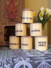 Lovely Vintage 1970s Kiln Craft Yellow Spice Jars-Unused #3442