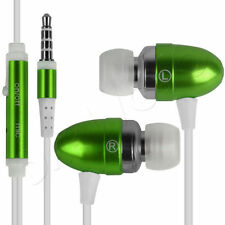 green In-Ear Bud Headphones With Handsfree Mic Remote For apple iphone 4/5/5s/6