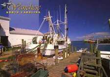 WANCHESE NC Fishing Trawler Dock OBX c Gaertner postcard