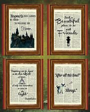 Harry Potter Quote Collection Dictionary Art Print Picture Poster *All 4 Prints*