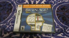 BRAIN AGE 2 NINTENDO DS VIDEO GAME PUZZLE COMPLETE NEW