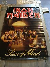 Rare IRON MAIDEN Piece Of Mind Promo Poster