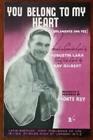 Monte Ray You Belong To My Heart by Augustin Lara & Ray Gilbert – Pub. 1943