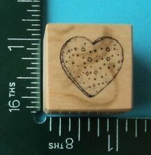 Textured HEART / CANDY Rubber Stamp by PSX - A-008