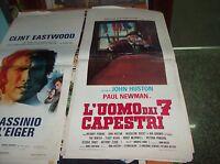 L'Uomo Von 7 Capestri Plakat Original 1972 John Huston Paul Newman